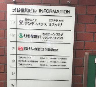 ミス・パリ渋谷案内板