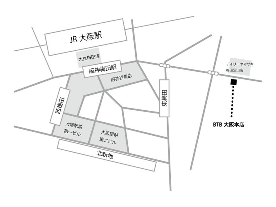 BTB梅田店地図