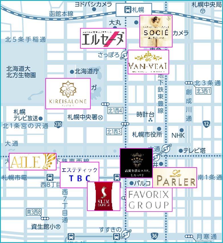 地図用札幌